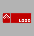 abstract logo in red vector image