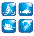 Adventure sport icons vector image vector image
