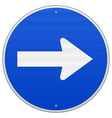 blue roadsigns pointing right vector image vector image