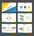 Blue yellow presentation templates Infographic vector image