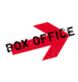 box office rubber stamp vector image