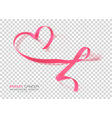 breast cancer awareness month pink color ribbon vector image