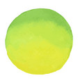 bright green - yellow watercolor banner blot vector image