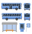 bus stop and various views of vector image vector image