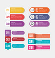 business infographic template icons vector image vector image
