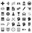 business way icons set simple style vector image