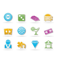 casino and gambling icons vector image vector image