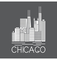 Chicago Illinois USA skyline line art vector image vector image