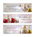 Christmas banners horizontal vector image vector image