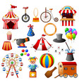 circus equipment collection set vector image