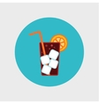 cocktail flat icon with long straw vector image