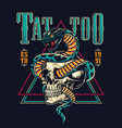 colorful tattoo salon emblem vector image