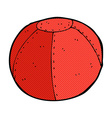 comic cartoon old stitched football vector image vector image