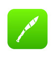 crooked knife icon digital green vector image vector image