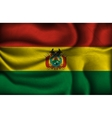 crumpled flag of Bolivia on a light background vector image vector image