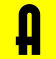 dark modern font trendy alphabet black letter on vector image