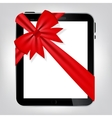 Digital tablet gift vector image vector image