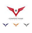 falcon eagle bird logo template icon vector image vector image
