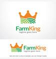 farm king logo template design emblem design vector image