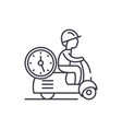 fast courier line icon concept fast courier vector image vector image
