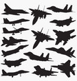 fighter jets silhouettes vector image