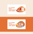 food supermarket business card with meal vector image vector image
