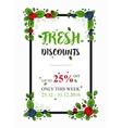 Fresh Discounts percent off banner vector image vector image