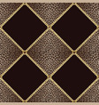 golden chains seamless pattern on leopard vector image vector image