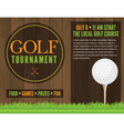 Golf Tournament Flyer vector image vector image