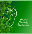 green eco happy ganesh chaturthi festival vector image vector image