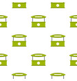 green tent shop pattern seamless vector image vector image
