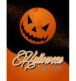 happy halloween full moon and pumpkin eps10 file vector image vector image