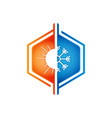 heating and cooling logos vector image vector image