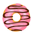 icing sweet donut bakery dessert food for snack vector image