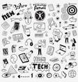 information technology doodle set design vector image vector image
