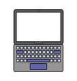 laptop computer gadget vector image vector image