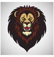 lion head roar mascot logo design cartoon vector image vector image