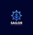 logo sailor gradient colorful style vector image