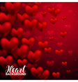 Love romantic 3D Realistic Red Hearts Background vector image vector image