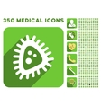 Micro Parasite Icon and Medical Longshadow Icon vector image vector image