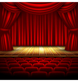 Movie theatre design vector image