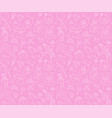 newborn girl bashower seamless pattern thin vector image vector image