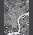 philadelphia city plan detailed map vector image