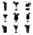Pictograms of party cocktails with alcohol vector image