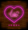 pink neon love sign vector image