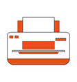 printer paper hardware vector image vector image