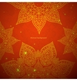 Red indian ornament vector image vector image