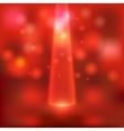 red stage light background vector image vector image