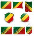 republic congo flag vector image vector image