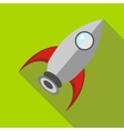 Retro rocket icon in flat style vector image vector image